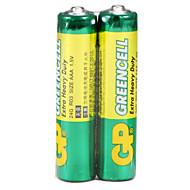 Batería verde del carbón de la célula verde del gp batería recargable 24g r03 aa 1.5v sin mercurio