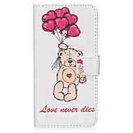 Для samsung galaxy s8 s8 плюс кейс для чехла на воздушном шаре медведь узор pu материальная карточка sten twallet phone case s7 s6 s5