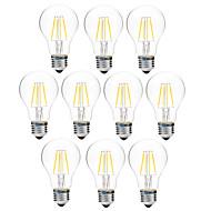 4W LED-hehkulamput A60(A19) 4 COB 300 lm Lämmin valkoinen Valkoinen Himmennettävissä V 10 kpl