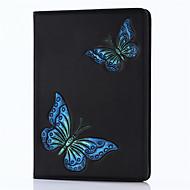 Για iPad 2017 9.7inch πολυτελή γνήσια δερμάτινα καλύμματα κάλυψη ανάγλυφα μοτίβο 3d υπόθεση πεταλούδα καρτούν για ipad air2 / air1 / ipad