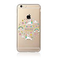 Недорогие Кейсы для iPhone-Чехол для iphone 7 7 плюс рисунок единорога tpu мягкая задняя крышка мультфильма для iphone 6 плюс 6 с плюс iphone 5 se 5s 5c 4s