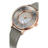 Dames Modieus horloge Kwarts Waterbestendig Leer Band Vrijetijdsschoenen Zwart Blauw Bruin Grijs Goud