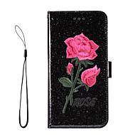 Case Kompatibilitás Samsung Galaxy S8 Plus S8 Kártyatartó Pénztárca Állvánnyal Flip Teljes védelem Csillogó Virág Kemény Műbőr Bőr mert
