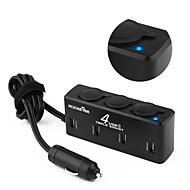 Недорогие Автомобильные зарядные устройства-Несколько портов Другое 4 USB порта Только зарядное устройство DC 12V/5.1A