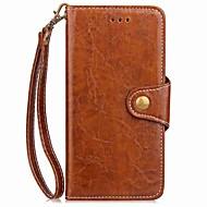 tanie Etui na telefony-Do lg g6 g5 pokrowiec na uchwycie karty portmonetka z paskiem na rękę klapka magnetyczna pełna obudowa pokrowiec solidna farba twarda