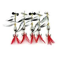 tanie Fishing & Hunting-5 szt Przynęta obrotówka Łyżki Przynęta metalowa g/Uncja mm calSea Fishing Fly Fishing Casting Bait Spinning Bass Fishing Fishing Lure
