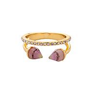 זול -בגדי ריקוד נשים טבעת סגסוגת אופנתי סגנון חמוד Euramerican Fashion Ring תכשיטים אדום / כחול עבור חתונה Party יוֹם הַשָׁנָה יום הולדת מתכוונן