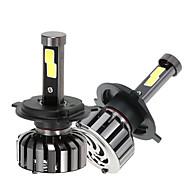 voordelige 50% korting & meer-2pcs H4 Automatisch Lampen 40W 4000lm LED Koplamp For Universeel