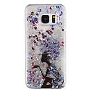 Для samsung galaxy s8 plus s8 телефон случай волшебник образец текущая зыбучая жидкость жидкий блеск пластик pc materia s7 край s7