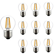 10pcs dimmable g45 4w led 샹들리에 밧줄 조명 ac2720-240v에 대 한 필 라 멘 트 빛 e27 개 암 나무 열매