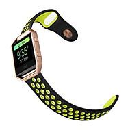 Недорогие Аксессуары для смарт часов-Фторэластомер Спортивный ремешок Для Fitbit Смотреть