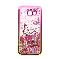 Til samsung galaxy a3 (2017) a5 (2017) case cover flowing væskemønster bagside cover glitter shine butterfly soft tpu