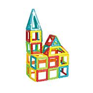 Rakennuspalikat Palapeli Magnetic Blocks Magneettinen rakennussarjoil- Opetuslelut Lelut Neliö Kolmia Magneetti Unisex Pojat Pieces