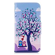 Недорогие Чехлы и кейсы для Galaxy A5(2016)-Кейс для Назначение SSamsung Galaxy A5(2017) A3(2017) Бумажник для карт Кошелек со стендом Флип Магнитный С узором Чехол Сова Твердый