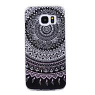tanie Etui / Pokrowce do Samsunga Galaxy S-Kılıf Na Samsung Galaxy S8 Plus S8 IMD Wzór Czarne etui Mandala Połysk Miękkie TPU na S8 Plus S8 S7 edge S7 S6 edge S6