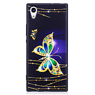 お買い得  携帯電話ケース-ケース 用途 Sony パターン バックカバー バタフライ ソフト TPU のために Sony Xperia XZ Sony Xperia XA1 Sony