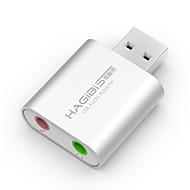 billige USB Gadgets-Hagibis usb eksternt lydkort notesbog desktop computer uafhængig ekstern headset konverter professionel gratis drev