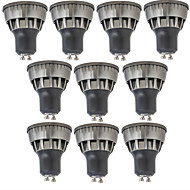 お買い得  LED スポットライト-10個 3W 320lm GU10 LEDスポットライト 1 LEDビーズ COB 装飾用 温白色 / クールホワイト 85-265V