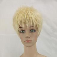Kvinder Syntetiske parykker Lokkløs Kort Krøllete Beige Blond Pixiefrisyre Naturlig parykk costume Parykker