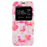 Назначение Чехлы панели Бумажник для карт со стендом С узором Чехол Кейс для Фламинго Твердый Искусственная кожа для SamsungS8 S8 Plus S7