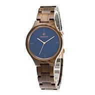お買い得  -男性用 腕時計 ウッド 日本産 クォーツ 木製 ウッド バンド ぜいたく Elegant ブラウン カーキ