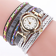 Xu™ Dame Armbåndsur Unike kreative Watch Hverdagsklokke Simulert Diamant Klokke Kinesisk Quartz PU BandVedhend Armband Fritid Elegante
