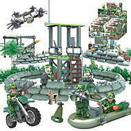 cheap Toys & Hobbies-GUDI 8009 Building Blocks Block Minifigures Educational Toy Toys Tank Fighter Military ABS Children's Unisex Boys' 318 Pieces
