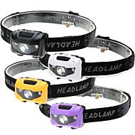 Czołówki LED LED Emitery 500 lm 4.0 tryb oświetlenia Wodoodporny 3 tryby Lampka LED Kemping / turystyka / eksploracja jaskiń Do użytku codziennego Kolarstwo / Rower Czarny Fioletowy Żółty