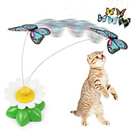 cheap Cat Toys-Cat Teasers Butterfly Plastic For Cat Kitten