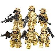 DILONG Stavební bloky Vojenské bloky Figurky z kostiček 106 pcs Armáda Bojovník Soldier kompatibilní Legoing Unisex Chlapecké Dívčí Hračky Dárek / Vzdělávací hračka