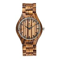 お買い得  -男性用 腕時計 ウッド 日本産 クォーツ 木製 ウッド バンド ぜいたく Elegant ブラック ブラウン