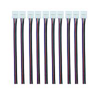 10PCS 4 Pin LED Strip Connector for 5050 RGB LED Strip