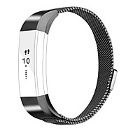 Fitbit Alta Accessories bands Metal Wristband Band Strap with Magnetic Closure Clasp for Fitbit Alta hr-black