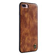 Назначение iPhone X iPhone 8 Чехлы панели Защита от пыли Задняя крышка Кейс для Сплошной цвет Твердый Искусственная кожа для Apple iPhone