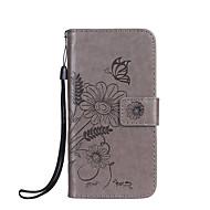 tok Για Samsung Galaxy A5(2017) A3(2017) Πορτοφόλι Θήκη καρτών με βάση στήριξης Ανοιγόμενη Ανάγλυφη Πλήρης κάλυψη Πεταλούδα Λουλούδι