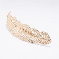 ヨーロッパとファッション金属の葉と女性のヘアクリップの髪a0154葉と米国の貿易の宝石のブランド