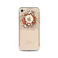 お買い得  クリアランスセール-ケース 用途 Apple iPhone X iPhone 8 Plus クリア パターン バックカバー Appleロゴアイデアデザイン 3Dカトゥーン ソフト TPU のために iPhone X iPhone 8 Plus iPhone 8 iPhone 7 Plus