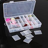 abordables Stockage et Rangement-Boîte de perles de bijoux en plastique