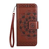 Taske til samsung galaxy a3 (2017) a5 (2017) dækning kort holder tegnebog flip mønster mobil taske mandala flower pu læder til samsung a7