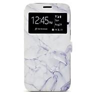 Недорогие Чехлы и кейсы для Galaxy A5(2017)-Кейс для Назначение SSamsung Galaxy A5(2017) / A3(2017) Бумажник для карт / со стендом / С узором Чехол Мрамор Твердый Кожа PU для A3 (2017) / A5 (2017)