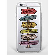 お買い得  クリアランスセール-ケース 用途 Apple iPhone 7 Plus iPhone 7 パターン バックカバー ワード/文章 ソフト TPU のために iPhone 7 Plus iPhone 7 iPhone 6s Plus iPhone 6s iPhone 6 Plus iPhone