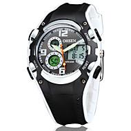 billige -OHSEN Herre Armbåndsur Unike kreative Watch Hverdagsklokke Klokke Ull Sportsklokke Moteklokke Quartz Digital LED Silikon Band Luksus