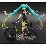 Χαμηλού Κόστους Μεταμφίεση και στολές-Anime Φιγούρες Εμπνευσμένη από Vocaloid Hatsune Miku PVC 14cm CM μοντέλο Παιχνίδια κούκλα παιχνιδιών Γιούνισεξ