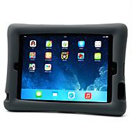 Para la cubierta del caso del ipad 4/3/2 de la manzana a prueba de choques con la caja de la contraportada del soporte silicón suave del