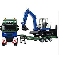 Fahrzeuge aus Druckguss Spielzeugautos Spielzeuge Motorräder Baustellenfahrzeuge Feuerwehrauto Aushubmaschine Spielzeuge Rechteckig