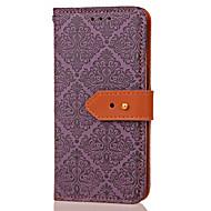 Недорогие Чехлы и кейсы для Galaxy Note-Кейс для Назначение SSamsung Galaxy Бумажник для карт Кошелек со стендом Флип С узором Рельефный Чехол Геометрический рисунок Цветы