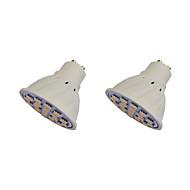 2.5W GU10 LED-spotlampen MR16 21 leds SMD 5050 Warm wit 260-300lm 3000-3500K AC 220-240V
