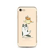 ケース 用途 Apple iPhone X iPhone 8 Plus クリア パターン バックカバー 猫 犬 ソフト TPU のために iPhone X iPhone 8 Plus iPhone 8 iPhone 7プラス iPhone 7 iPhone 6s Plus