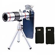 abordables Fotografía con Smartphone-Lingwei 18x zoom samsung cámara teleobjetivo lentes gran angular / trípode / teléfono titular / caso duro / bolsa / paño de limpieza