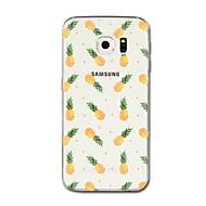Недорогие Чехлы и кейсы для Galaxy S6 Edge Plus-Кейс для Назначение SSamsung Galaxy S8 Plus S8 Прозрачный С узором Кейс на заднюю панель Фрукты Мягкий ТПУ для S8 Plus S8 S7 edge S7 S6